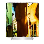 Magic Lantern On The Walls Of Annecy Shower Curtain by Jenny Rainbow