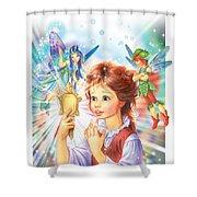 Magic Mirror Shower Curtain by Zorina Baldescu