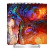Magic Shell 2 Shower Curtain by Rona Black