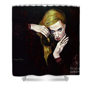 Magie Noir Shower Curtain by Dorina  Costras