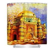 Mai Jwandi Tomb On Makli Hill Shower Curtain by Catf