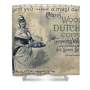Maid Serving Coffee Advertisement For Woods Duchess Coffee Boston  Shower Curtain by American School