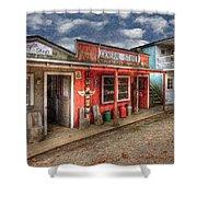 Main Street Shower Curtain by Debra and Dave Vanderlaan