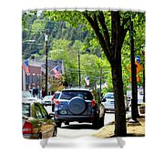 Main Street Shower Curtain by Patti Whitten