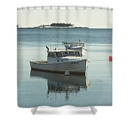 Maine Lobster Boats In Winter Shower Curtain by Keith Webber Jr