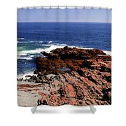 Maine Seascape Shower Curtain by Kathleen Struckle