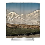 Majestic Mount Mckinley Shower Curtain by Penny Lisowski