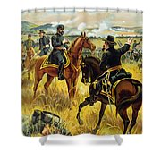 Major General George Meade At The Battle Of Gettysburg Shower Curtain by Henry Alexander Ogden
