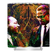 Malcolm and The King 20140205 Shower Curtain by Wingsdomain Art and Photography