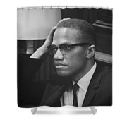 Malcolm X 1964 Shower Curtain by Mountain Dreams