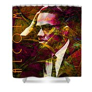 Malcolm X 20140105 with text Shower Curtain by Wingsdomain Art and Photography