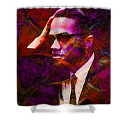 Malcolm X 20140105m28 Shower Curtain by Wingsdomain Art and Photography