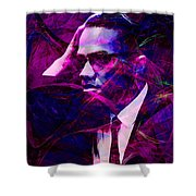 Malcolm X 20140105m88 Shower Curtain by Wingsdomain Art and Photography