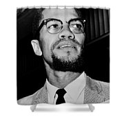 Malcolm X Shower Curtain by Benjamin Yeager