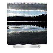 Man Fly Fishing Shower Curtain by Judith Katz