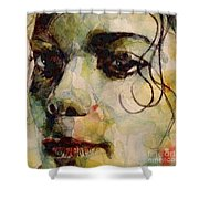 Man In The Mirror Shower Curtain by Paul Lovering