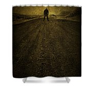 Man On A Mission Shower Curtain by Evelina Kremsdorf