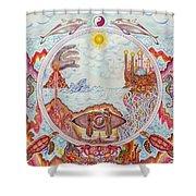 Mandala Atlanits Shower Curtain by Lida Bruinen