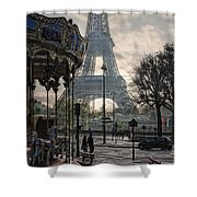 Manege Parisienne Shower Curtain by Joachim G Pinkawa