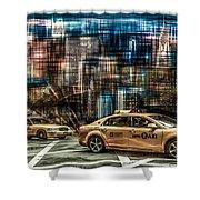 Manhattan - Yellow Cabs - Future Shower Curtain by Hannes Cmarits