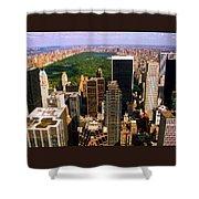 Manhattan and Central Park Shower Curtain by Monique Wegmueller