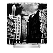 Manhattan Highlights B W Shower Curtain by Benjamin Yeager