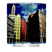 Manhattan Highlights Shower Curtain by Benjamin Yeager
