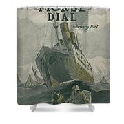 Manned By All American Crew Shower Curtain by Edward Hopper