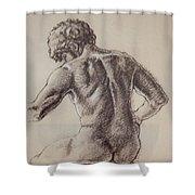 Man's Back Shower Curtain by Sarah Parks
