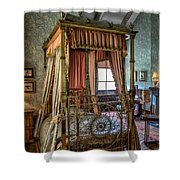Mansion Bedroom Shower Curtain by Adrian Evans