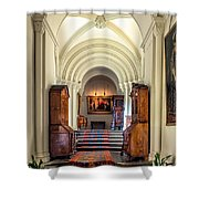 Mansion Hallway III Shower Curtain by Adrian Evans