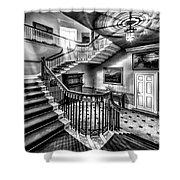 Mansion Stairway V2 Shower Curtain by Adrian Evans