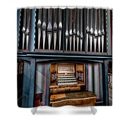 Manual Pipe Organ Shower Curtain by Adrian Evans
