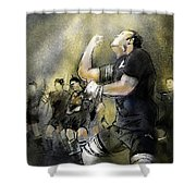 Maori Haka Shower Curtain by Miki De Goodaboom