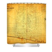 Map Of Detroit Michigan C 1835 Shower Curtain by Design Turnpike