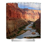 Marble Canyon Shower Curtain by Inge Johnsson
