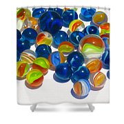 Marbles Shower Curtain by Dale Jackson