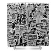 March On Washington Shower Curtain by Benjamin Yeager