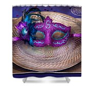 Mardi Gras Theme - Surprise Guest Shower Curtain by Mike Savad