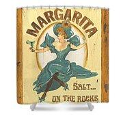Margarita Salt On The Rocks Shower Curtain by Debbie DeWitt