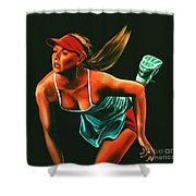 Maria Sharapova  Shower Curtain by Paul  Meijering