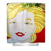 Marilyn Shower Curtain by Ethna Gillespie