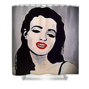 Marilyn Monroe Aka Norma Jean Artistic Impression Shower Curtain by Saundra Myles