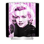 Marilyn Monroe - Pink Shower Curtain by Absinthe Art By Michelle LeAnn Scott