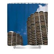 Marina City Morning Shower Curtain by Steve Gadomski
