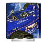 Mark Donohue 1972 Indy 500 Winning Car Shower Curtain by Blake Richards