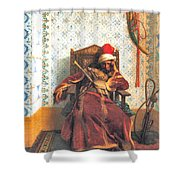 Markos Botsaris Shower Curtain by Jean Leon Gerome