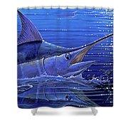 Marlin Mirror Off0022 Shower Curtain by Carey Chen