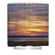 Marsh Sunset Shower Curtain by Phill Doherty