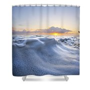 Marshmallow Tide Shower Curtain by Sean Davey